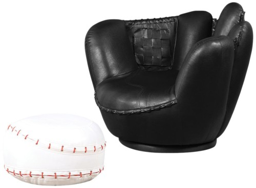 baseball chair and ottoman