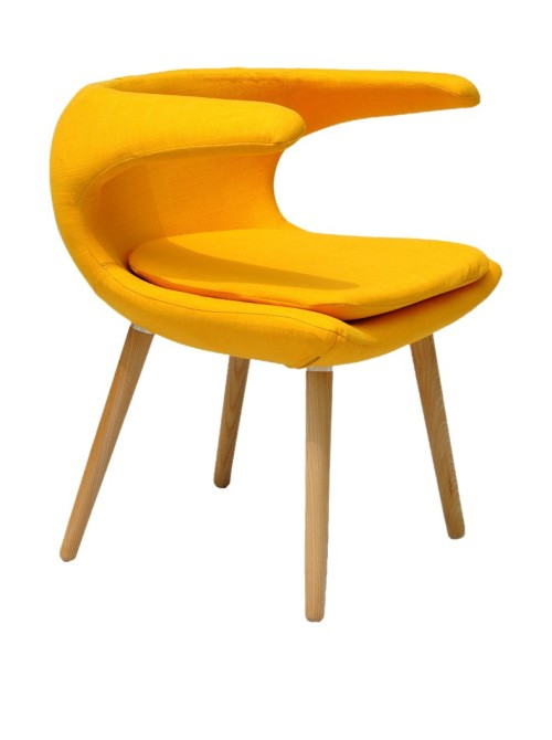 Unique Clipper Chair, Yellow