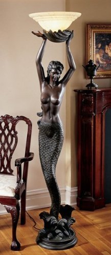 Mermaid Sculptural Floor Lamp