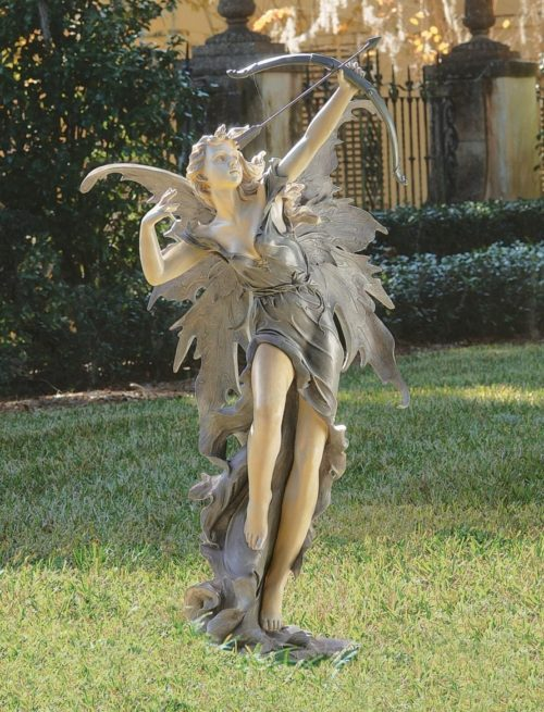 large garden fairy statues