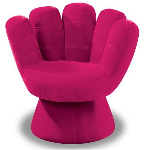 hot pink mitt chair