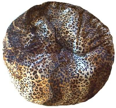 Leopard Animal Print Fur Washable Large Bean Bag Chair