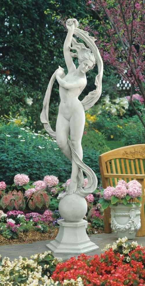 "76"" Large Scale Classic 19th-century Nude Roman Greek Goddess Garden Statue"