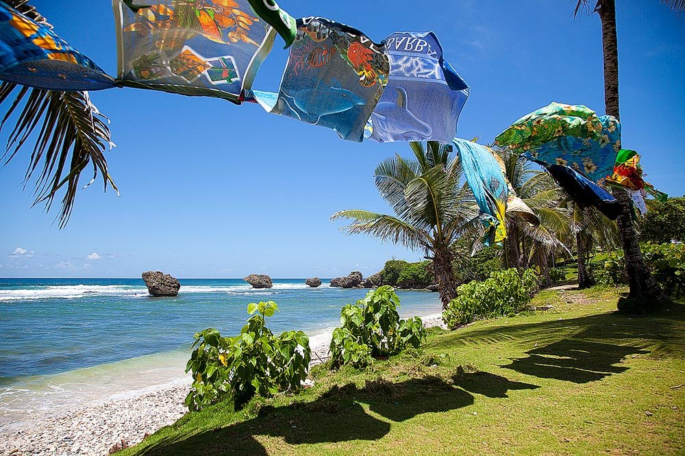 Barbados Island Beach Towels Wallpaper Wall Mural