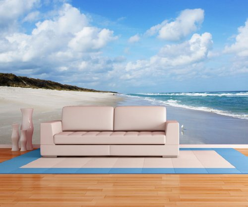 large beach wall murals