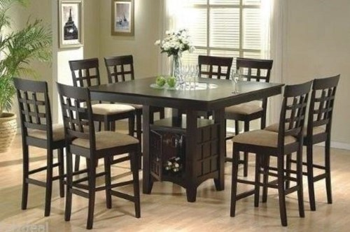 9pc Counter Height Storage Dining Table