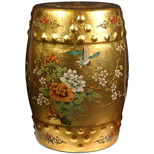 gold leaf oriental stool