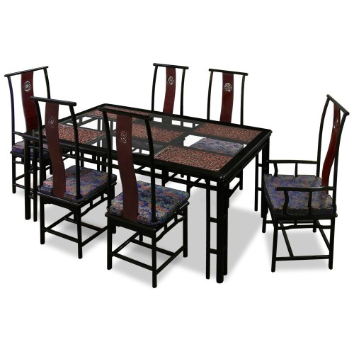 beautiful oriental dining room table set for sale