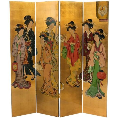 oriental room divider geishas