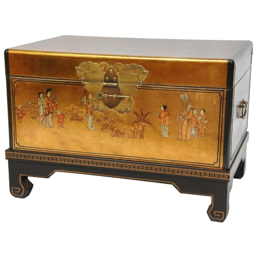 beautiful oriental gold leaf chest