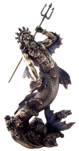 Poseidon with Trident Figurine