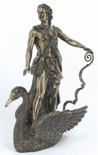 APOLLO ON SWAN Greek Roman Mythology Statue
