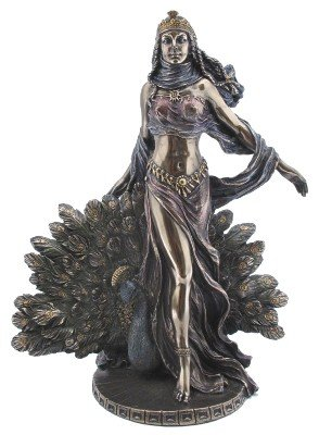 Greek Goddess Hera Bronzed Figurine for Sale