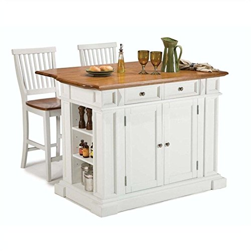 Cute WHITE Kitchen Island and Stools