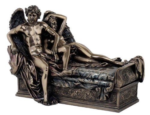 Cupid and Psyche Bronze Powder Cast Statue