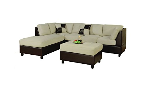 Cute and Affordable 3-Piece Sectional Sofa Set for a Small Living Room