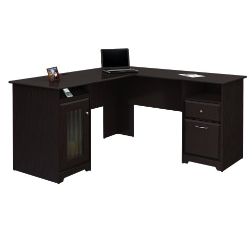 Beautiful L-Desk, Espresso Oak
