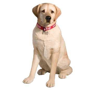 Life Size Yellow Labrador Retriever Sculpture