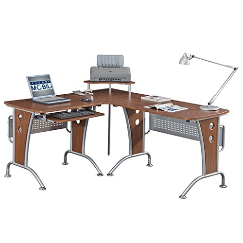 Modern and Affordable L-Shaped Desk with Steel Frame