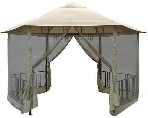 Cool Looking Hexagon Gazebo with Insect Screen