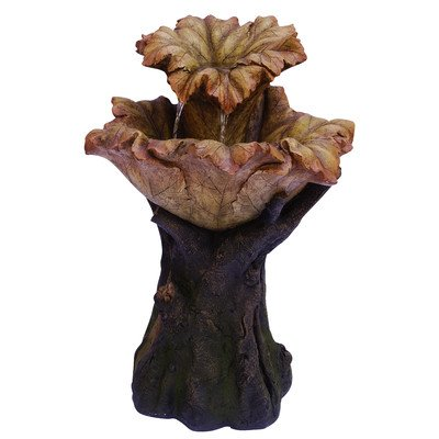 Tiered Leaf Rainforest Fountain with LED Lights