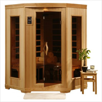 Beautiful and Affordable 3 Person Carbon Infrared Home Sauna