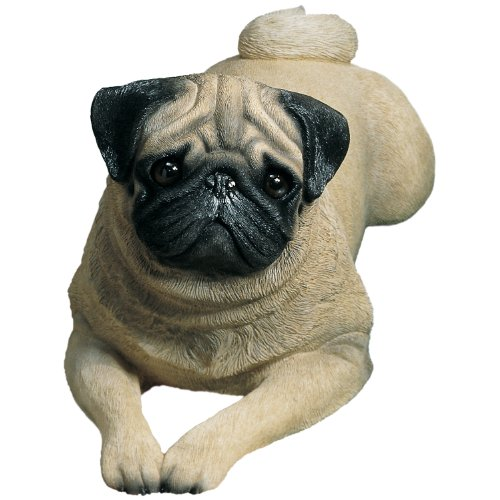 Cute Life Size Lying Pug Sculpture for Sale