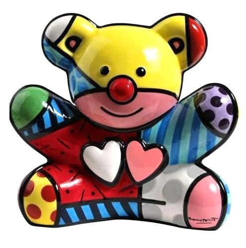 Romero Britto Teddy Bear Cookie Jar