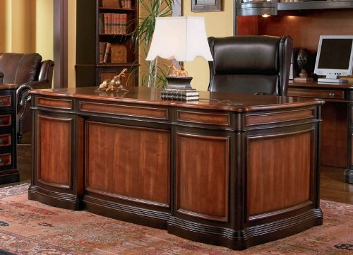 Traditional Hardwood Home Office Executive Desk