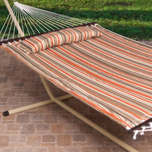 Comfy 2 Person Hammock with Stand and Pillow Package