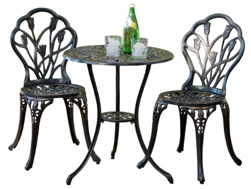 Cute Floral Design 3-piece Outdoor Bistro Set