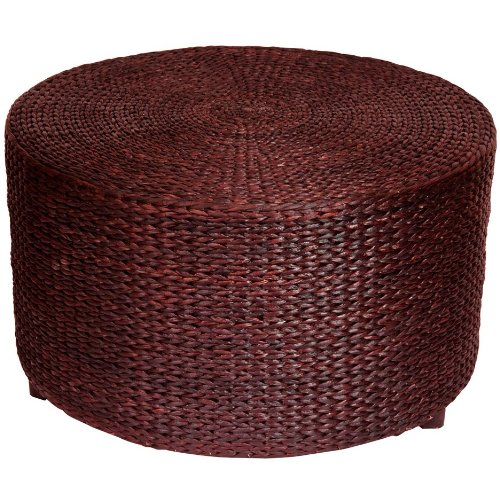 Beautiful Rattan Style Round Ottoman Coffee Table Platform
