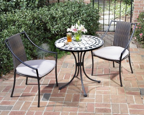 Cute 3 Piece Bistro Patio Furniture Set
