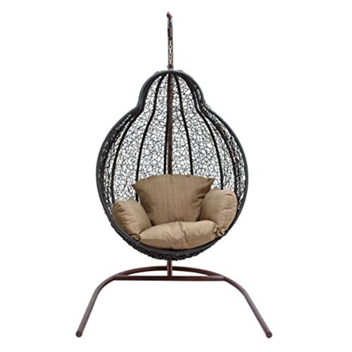 Pear Shaped Iron Swing Chair