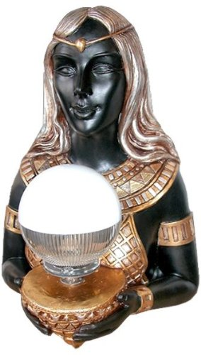 Unique Egyptian Goddess Hathor Sculpture Statue Wall Lamp