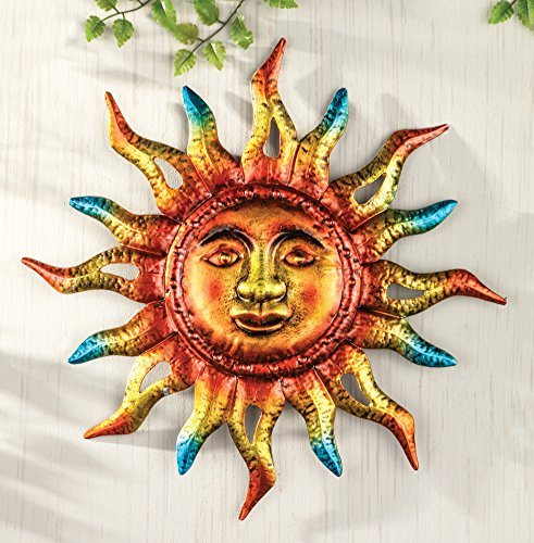 Colorful Metallic Hanging Sun Sign