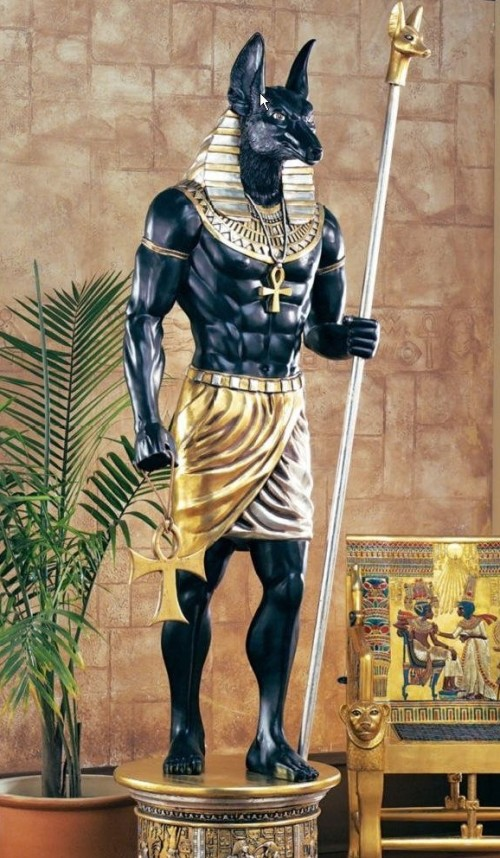 Best Egyptian home decor Life size Egyptian Anubis Sculpture