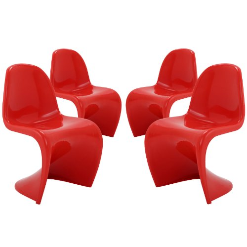Cool S Shape Plastic Dining Room Chairs