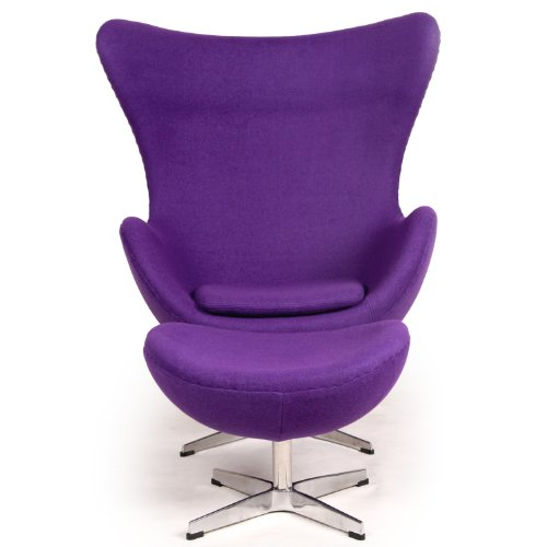 Retro Purple Chair Cool Purple Wool Retro Chair