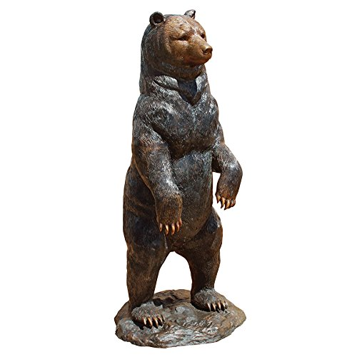 Black Bear Cast Bronze Garden Statue