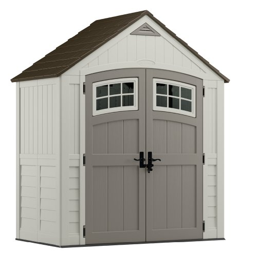 Cute House Shaped Molded Resin Storage Shed