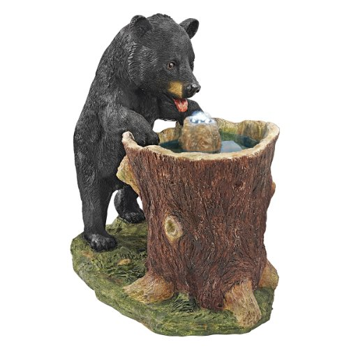 Cute Black Bear Garden Fountain