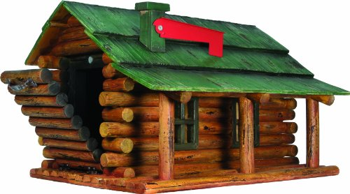 Cute Log Cabin Shaped Mailbox