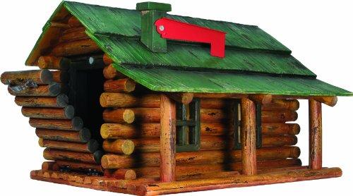 Cute Log Cabin Shaped Mailbox