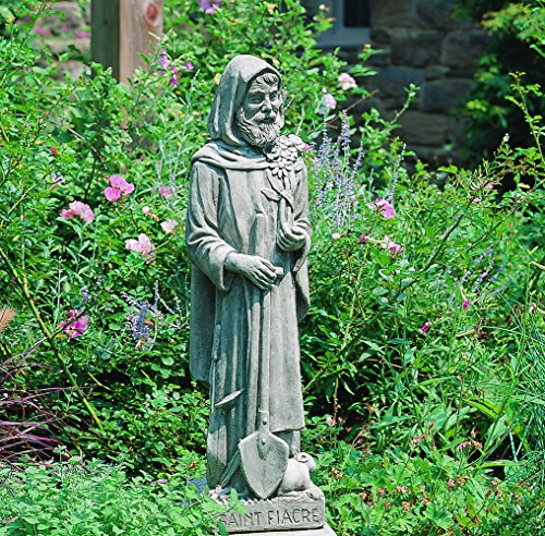 Unique St. Fiacre Cast Stone Statue