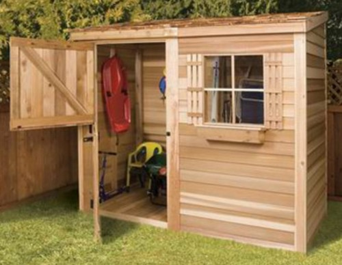 Cute Wood Storage Shed