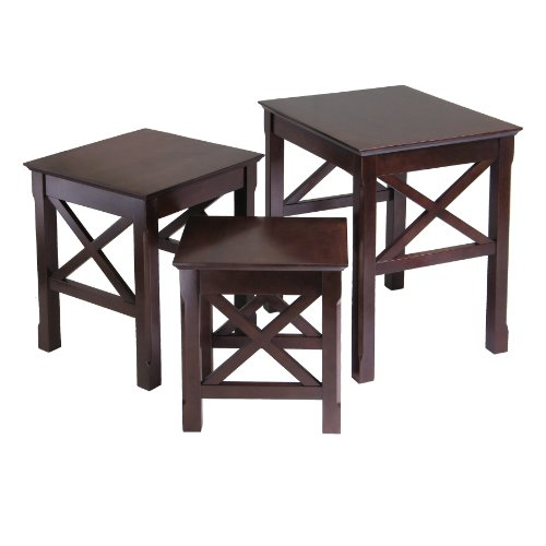 Beautiful Wood 3pc Nesting Table Set