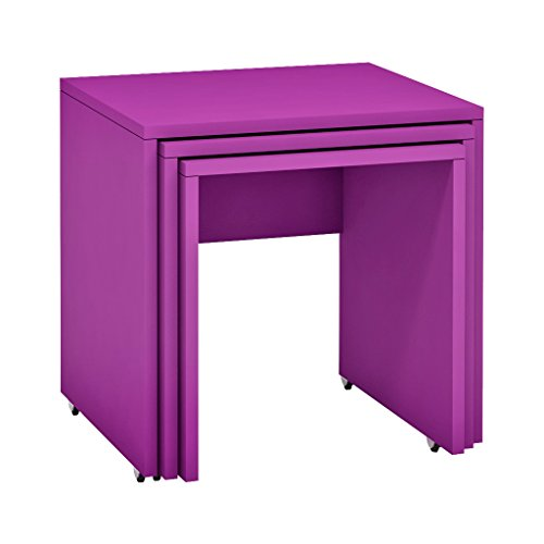 Colorful Nesting Tables with Wheels