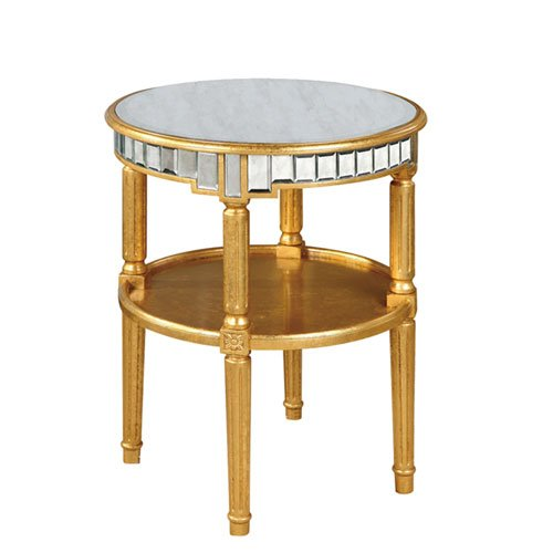 Cute Gold and Antique Mirror Round Table