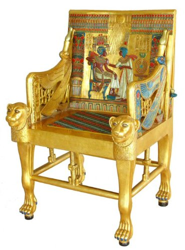 The Golden Throne of Tutankhamen King Tut Egyptian Chair